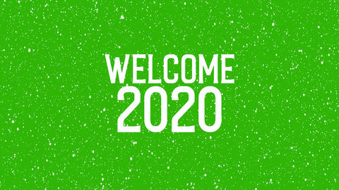 "2020 celebration with snowflakes. Animated text of ""WELCOME 2020"" Christmas background Animation"