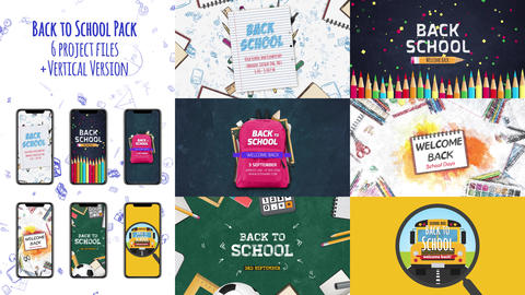 Back to School Pack After Effects Template