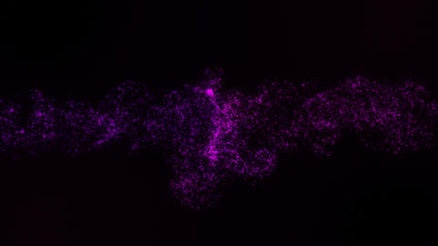Purple Colliding Particles Intro Logo Motion Background Animation