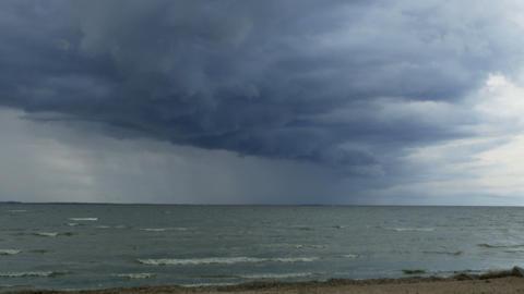 hurricane huge dark clouds Live Action