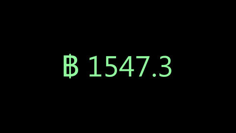 Increase money animation. Earning BTC, bitcoin, increase in monetary gain animation or rendering Animation