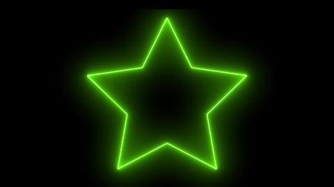 Isolated neon abstract star. Creative glowing shiny disco… Stock Video Footage