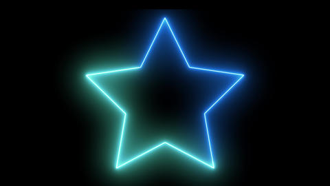 Isolated neon abstract star. Creative glowing shiny disco... Stock Video Footage
