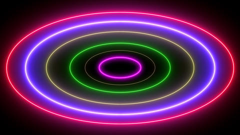 Abstract creative neon swirling rounds. Entwined circular background with glowing neon light Animation