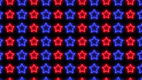 Neon colorful stars background. Abstract creative glowing lights CG動画