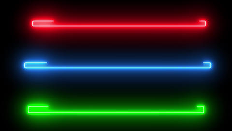 Loading bars with neon light. Abstract creative loader object LOOP animation Animation
