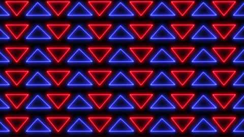 Abstract neon, led triangles background Animation