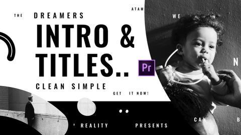 Titles Intro Elegant Premiere Pro Template