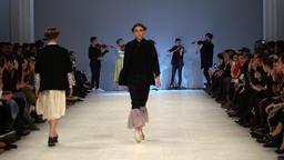 Fashion show. Model on the catwalk. Woman. Girl. Female. Models GIF