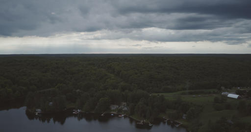 4K Aerial Hyperlapse of Ontario, Canada Cottage Country Footage