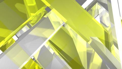 Rotating crystal_yellow CG動画