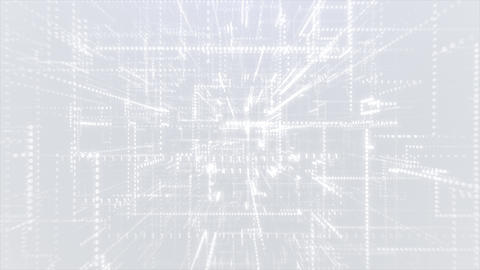 White Abstract Binary Code Background Live Action