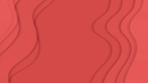 Living coral corporate material waves video animation Animation