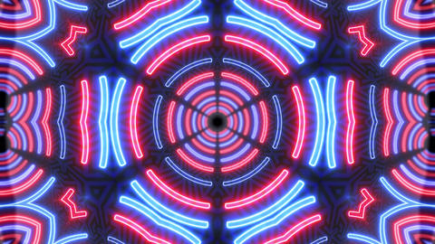 Futuristic neon background. Glowing light swirling rounds and led lights Animation