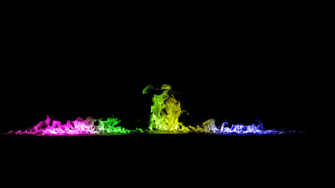 Fire line rainbow Animation