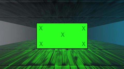 Abstract creative wood ground and blank, green screen…, Stock Animation