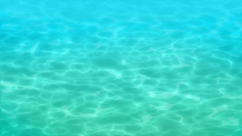 熱帯浅瀬の水面、ゆっくり CG動画