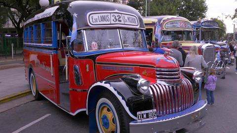 Key model of the 1940´s Argentinian Urban Bus public transportation Footage
