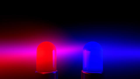 Police Siren Flashing Blue and Red Animation