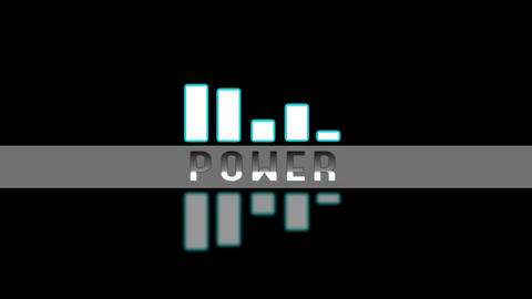 Power spectre simple animation Stock Video Footage