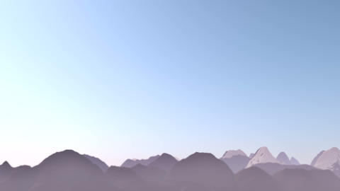 Mountains Landscape Animation Footage