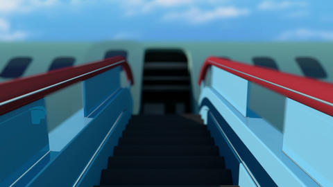 Plane ladder stairs ramp Animation