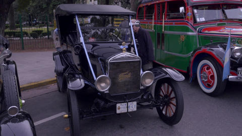 First model taxi bus of the late 1920´s and early 1930´s Footage