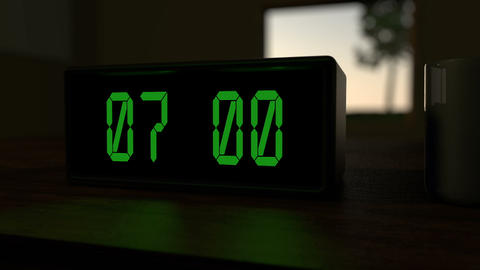 Alarm Clock at 7:00 a.m Animation
