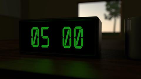 Alarm clock at 5:00 a.m Animation