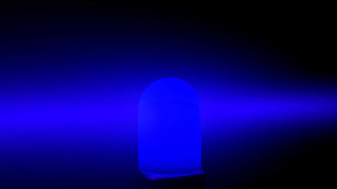 Police Flashing Light Siren Blue Animation