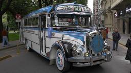 Key model of the 1960´s Argentinian Urban Bus public transportation Footage