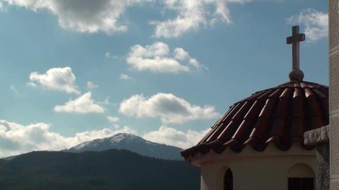 Church in landscape Footage