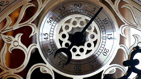 Vintage antique clock Footage