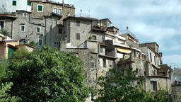 Europe Italy Liguria Airole village 007 old grey houses at hillside Footage