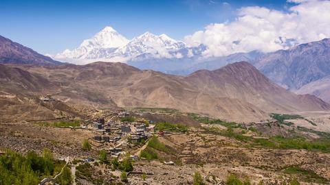 Annapurna Trail - Muktinath and Dhaulaghiri Footage