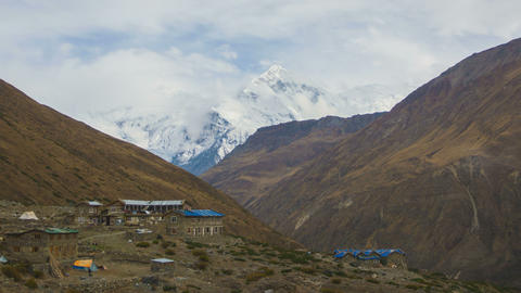 Annapurna Mountains View from Letdar Footage