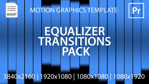 Equalizer Transitions Pack モーショングラフィックステンプレート