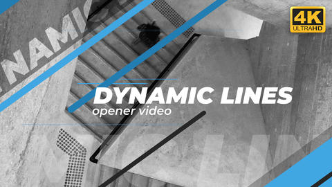 Dynamic Lines Opener After Effects Template