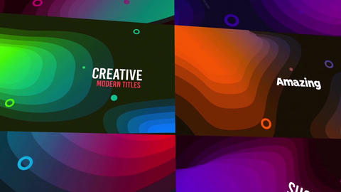 Gradient Title After Effects Template