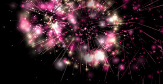 Fire work right to left pink Animation