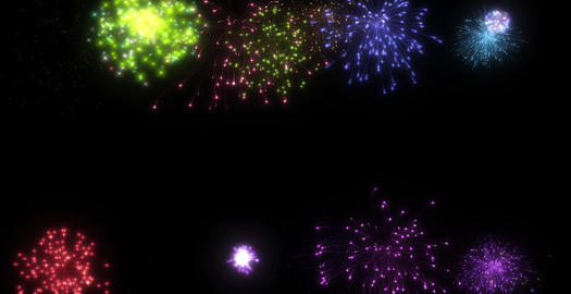 Fire work side 01 Animation