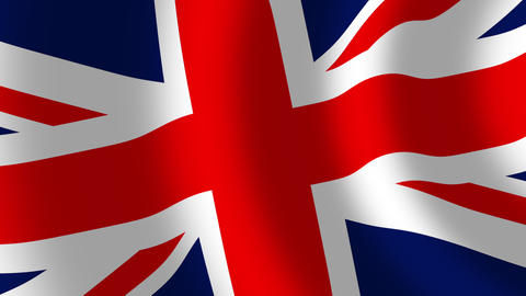 United Kingdom union jack flag waving in the wind... Stock Video Footage