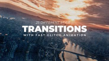 Fast Glitch Transitions Apple Motion Template