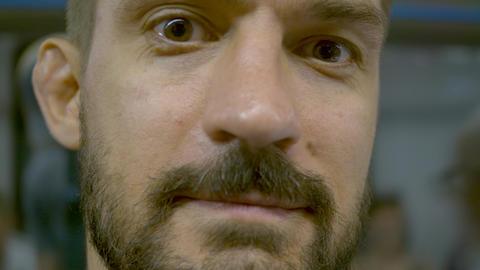 Portrait of a man on blur background Footage