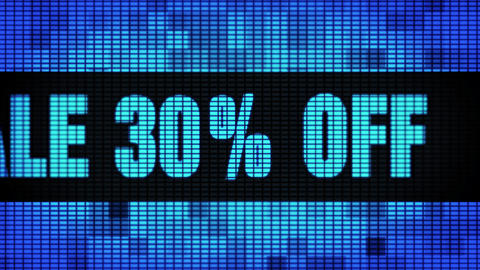 Sale 30% Percent Off Front Text Scrolling LED Wall Pannel Display Sign Board Footage