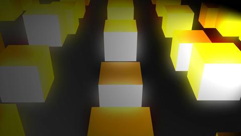 Glow cubes background Animation