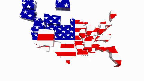 USA Map Animation Footage