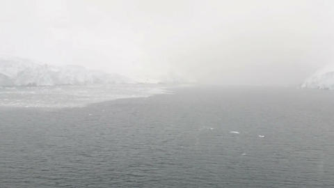 Cruise ship entering Lemaire Channel, Antarctic Peninslula, Antarctica Live Action