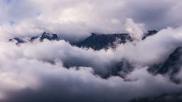 Mountains and Clouds Footage
