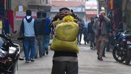 Street scene in Thamel Kathmandu Nepal 2009 pre earthquake Footage